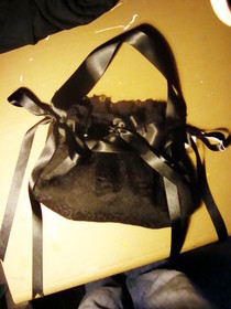Gothic Lolita Lace And Ribbon Handmade Handbag
