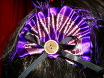Gothic Lolita Purple Satin Hair Clip