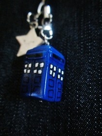 Polymer Clay Tardis Charm! 