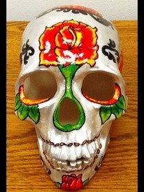 Dia De Los Muertos Art Skull