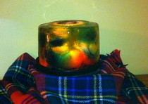 Fire And Stained Ice Luminary
