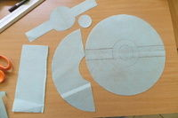 How to make a novetly bag. Pokeball Shoulder Bag - Step 3