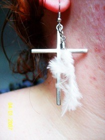 Diy: Earring With Feather