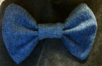 Denim Bow (Bow Tie/Hair Bow/Decor)