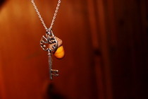 Acorn &amp; Key Necklace