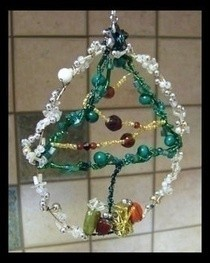 Beaded Christmas Tree Ornament (Tree Of Life)