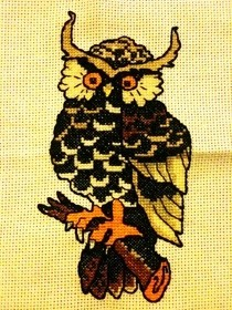 Cross Stitched Owl