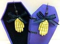 Skeleton Bow Earrings