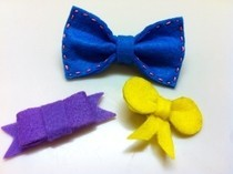 Felt Bow Hair Clips