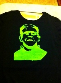 Frankenstein Steciled T Shirt