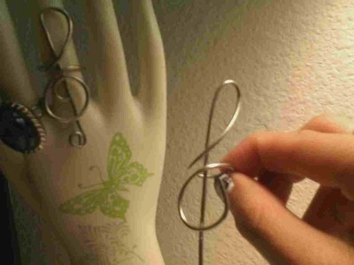 How to make a statement ring. Treble Clef Ring  - Step 6