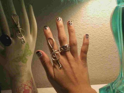 How to make a statement ring. Treble Clef Ring  - Step 9