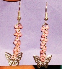 Dangly Butterfly Earrings