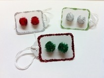 Christmas Pom Pom Earrings