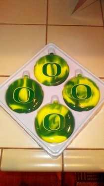 Marblized Glass Christmas Ornaments