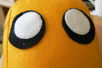 How to make a dog plushie. Adventure Time Jake Plush - Step 8