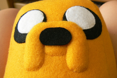 How to make a dog plushie. Adventure Time Jake Plush - Step 12
