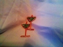 Apple Martini Earrings