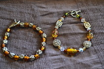 Autumn Inspired Bead Braelets