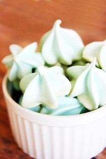 Blue Raspberry Meringue Kisses