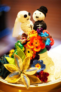 Yarnstorm / Yarnbomb Day Of The Dead Wedding Cake