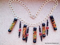 Ethnic Ribbon Necklaces