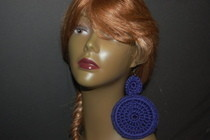 Deep Purple Crochet Earrings