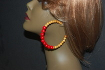Beaded Hoops