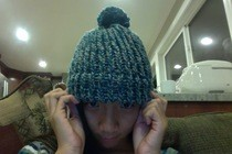 Loom Knitted Hat