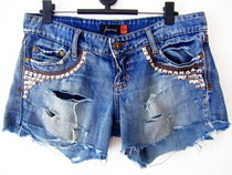 Update Your Jeans: Diy Studded &amp; Frayed Shorts