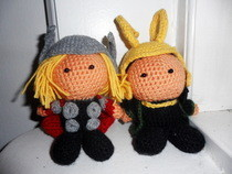 Loki And Thor Crochet Dolls