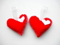 Little Felt Heart Hangers