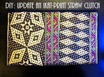 Diy Update A Bland Ikat Print Straw Clutch