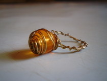 Wire Wrapped Spiral Bead Ring