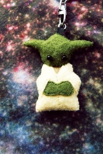 Tiny Yoda Keyring