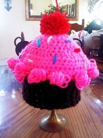 Cupcake Crochet Beanie Hat 