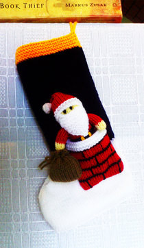 'Santa In The Chimney' Stocking