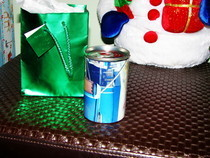 Recycle Soup Can Gift Holder
