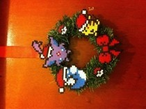 Hama Bead Pokemon Holiday Wreath