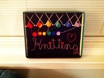 Tiny Knitting Shadow Box