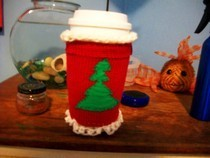 (Reversable) Knit Coffee Mug Cozy
