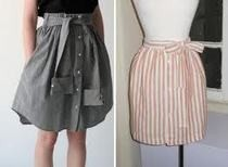 Diy Mens Dress Shirt Transformed Into A Cute Skirt