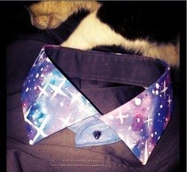 Galaxy Print Collar