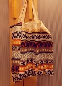 Fabric Embellished Tote