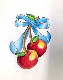 Cherries Flash Art