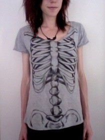 Painted Skeleton Shirt