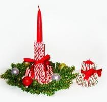 Christmas Craft: Candy Cane Candlestick Holders
