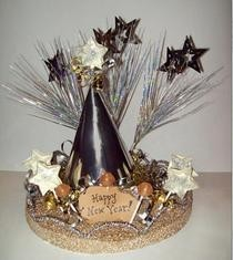New Year'S Craft: Edible Dum Dums Table Centerpiece