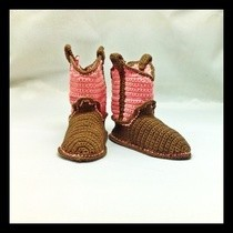 Cowboy (Or Girl) Baby Booties