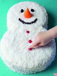 How to decorate a character cake. Frosty The Snowman - Step 10